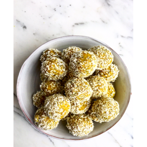 Lemon, Turmeric & Hemp Seed Energy Bites