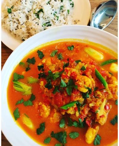 Burmese Prawn Curry