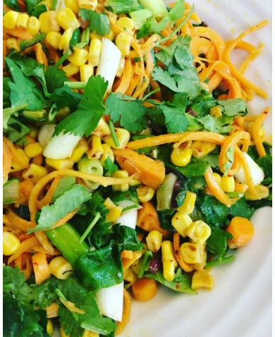 Sweet Potato Noodle Salad with Chipotle Dressing