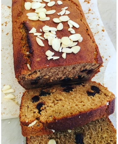 Vegan Sour Cherry & Almond Loaf