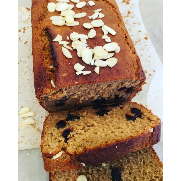 Vegan Sour Cherry & Almond Loaf