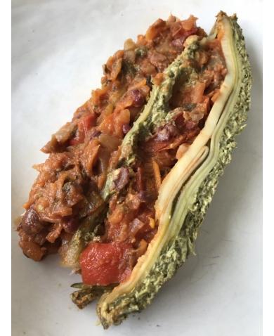 Vegan Borlotti & Aduki Bean Lasagna