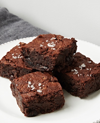 Vegan Sour Cherry Beanie Brownies